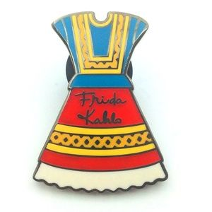 Jewelry - FRIDA KAHLO MEXICAN DRESS PIN/BROOCH MULTI-COLOR